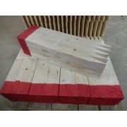 Afsætningspæle 15 x 50 x 600 mm med rød top
