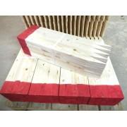 Afsætningspæle 15 x 35 x 600 mm med rød top