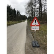 Advarselsskilt anden fare - Opmåling